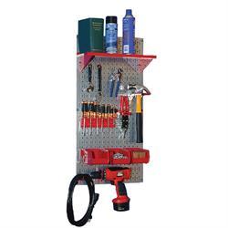 Wall Control 30-WGL-100GV Basic Tool Organizer Kit, Metal Pegboard