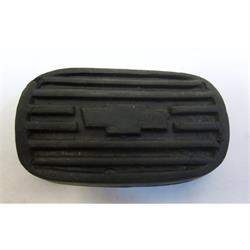 Garage Sale - Rubber Brake/Clutch Pedal Pad 1937-39 Chevy with Logo