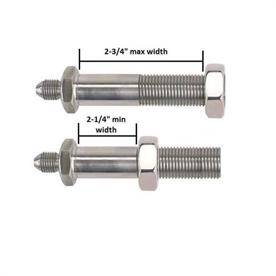 Stainless Brake Line Fittings : Stainless thru frame brake line fittings