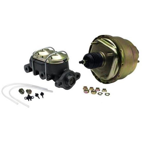"7/"" Dual Street Hot Rod Power Brake Booster w Master Cylinder CHROME Brakes"