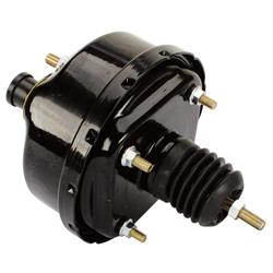 Speedway Single Diaphragm Power Brake Booster, 7 Inch, Black Finish