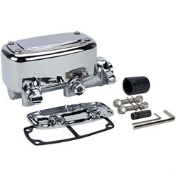 """Chrome Master Cylinder w// Built-In Proportioning Metering Valve 1-1//8/"""" Bore"""