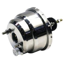 Speedway Dual Diaphragm Power Brake Booster, 7 Inch, Stainless Steel