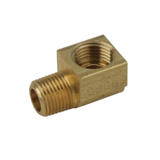 90 Degree 1/8 Inch NPT to 7/16-24 IFF Adapter Fitting