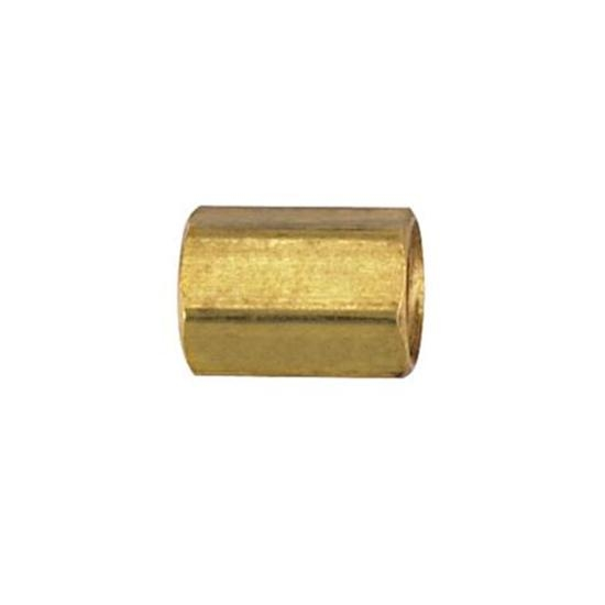 IFF Brass Union Coupler, 7/16 Inch-24 IFF to 7/16 Inch-24