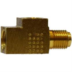 Brass Brake Tee Fitting, 3/8-24 IFF/IFM