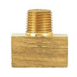 3/8 Inch-24 IFF Each End, 1/8 Inch NPT Male Center, Adapter Tee