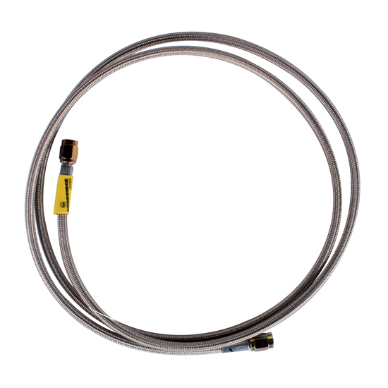 48 Inch Stainless Steel Brake Line w// 90 Degree AN3 End