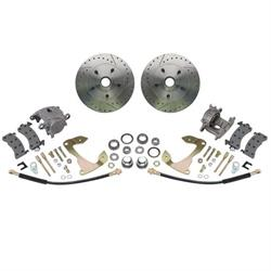 Deluxe Disc Brake Kit,1955-64 Chevy Full-size Car,Drilled/Slotted