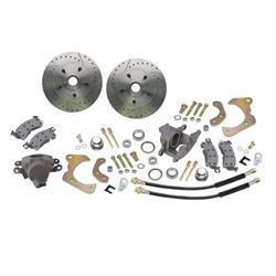 Deluxe Disc Brake Kit 1965-68 Chevy Full Size Car,Drilled/Slotted