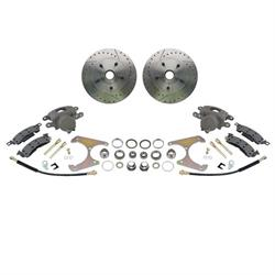 69-77 GM Caliper to Early Ford Spindle, Drilled/Slotted,Brake Kit