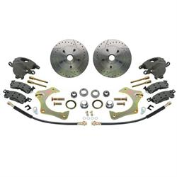 Mustang II Complete 11 In Front Disc Brake Kit, Drilled/Slotted