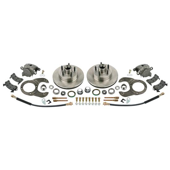 Disc Brake Kit, 1978-88 GM Caliper to Early Ford Spindle, 5 on 4-1/2In