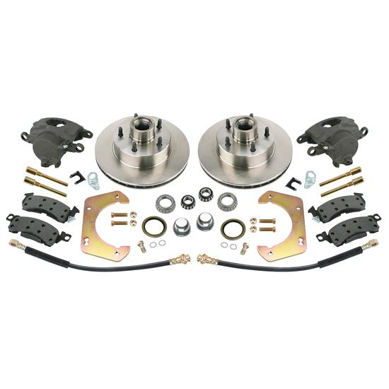 Front Disc Brake Kit, GM Mid-size to 1949-54 Chevy Spindle, 5 on 4-3/4