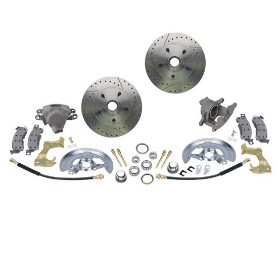 Drilled/Slotted 1964-74 GM A/F/X-Body 11 In. Front Disc Brake Kit