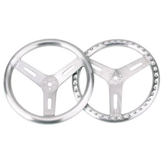 "15 "" Pro-Grip Aluminum Steering Wheel, Flat"