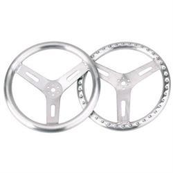 15 Inch Pro-Grip Aluminum Steering Wheel, Flat
