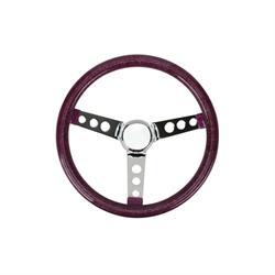 Speedway Classic Solid Spoke 12 Inch Black Steering Wheel No Holes