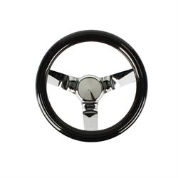 Speedway Classic Solid Spoke 9-3/4 In Black Steering Wheel - No Holes