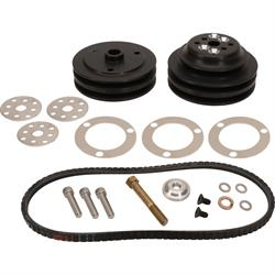Speedway Motors 602 GM Crate Short Water Pump V-Belt Drive Kit