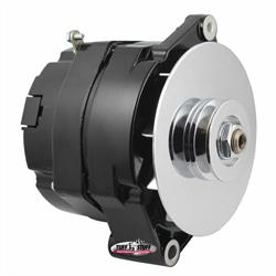 Tuff Stuff 7127NF 1 Wire Black Alternator, 100 AMP, V Groove Pulley