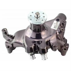 Satin Aluminum Mechanical for Chevy 396-454 BBC Weiand Water Pump 9212; Action