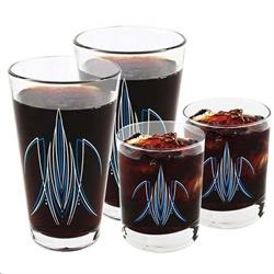 Pinstriped Pint & Rocks Glass Set