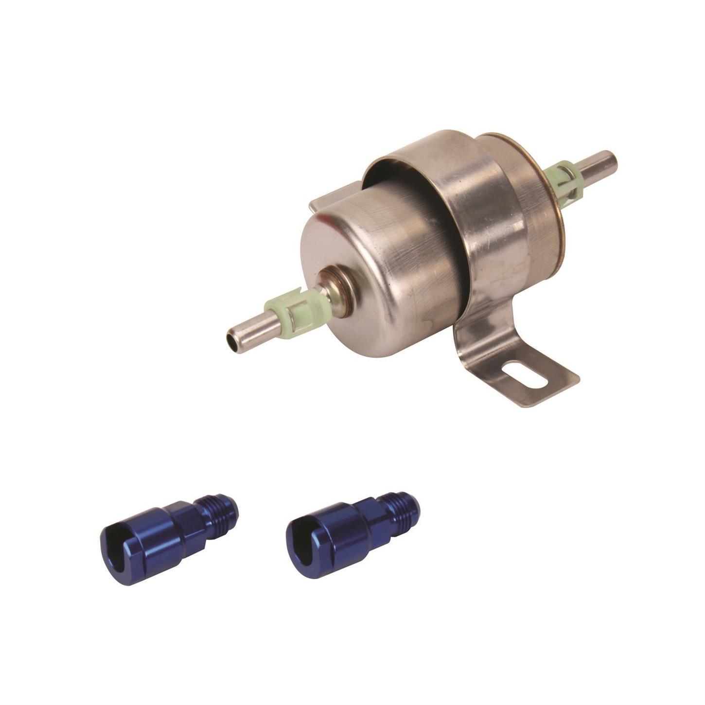 speedway high pressure efi inline fuel filter, 120 gph at 60 psi motorcycle inline fuel filter powr flo in line fuel filter (100