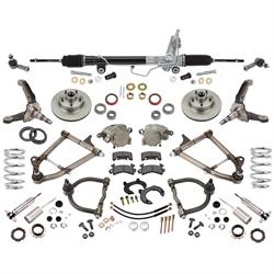 Mustang II IFS, Std. Tubular Control Arms, Coilover Springs, Stock Spindles