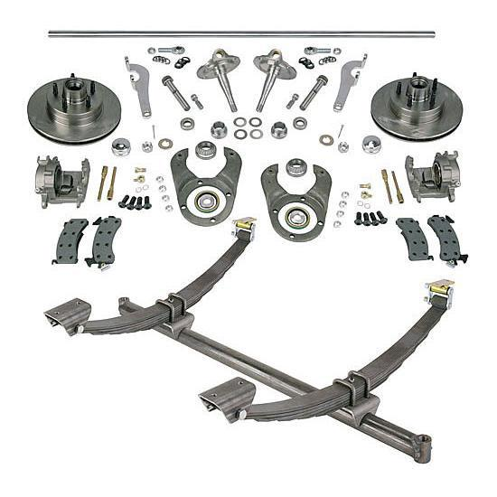 Gasser Straight Axle, Ford Spindle and Brake Kits, 52-1/4 Hub-to-Hub