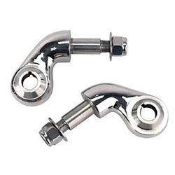 Speedway Forged Steel Lower Shock Mounts for Front Solid Axle, Chrome