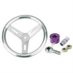 Pro Grip Flat Wheel Steering Wheel Combo - 15 Inch