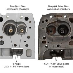 Chevy SBC Assembled Aluminum Camel Double Hump 461 Cylinder Head