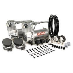 Viair 38003 Dual Air Suspension Compressor Kit, 380C, Chrome