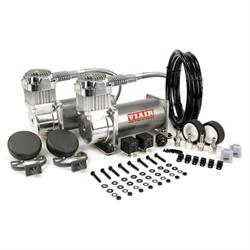 Viair 38003 Dual Air Suspension Compressor Kit, 380C, Chrome