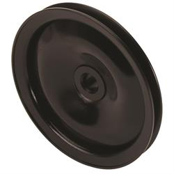 Black Single Groove Power Steering Pulley, Chevy