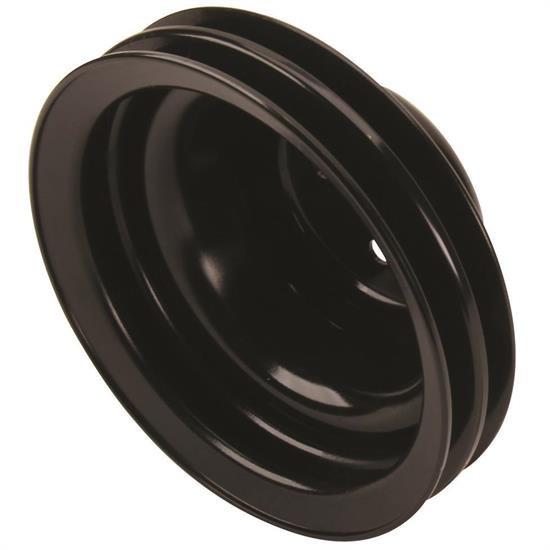 Black Upper Double Groove Water Pump Pulley, Chevy V8