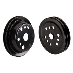 3-Groove S/B Chevy Crank Pulley for Short Water Pump, Black