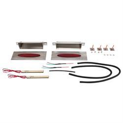 Hagan Street Rods fm6OVR-LEDH Flush Mount Tail Lights Red Oval 6 x 1