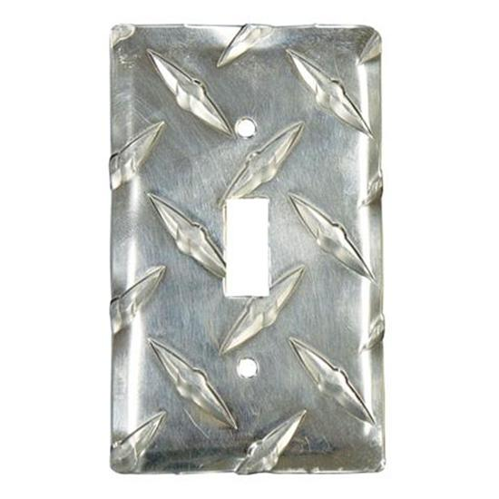 Diamond Plate Single Switch Cover