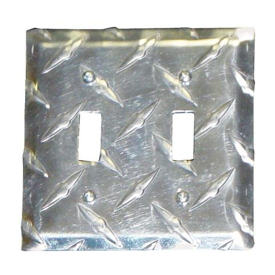 Diamond Plate Dual Switch Cover Plate