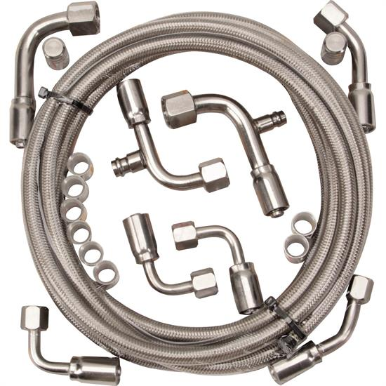 Gotta Show 343100 Braided Stainless Steel A/C Hose Kit
