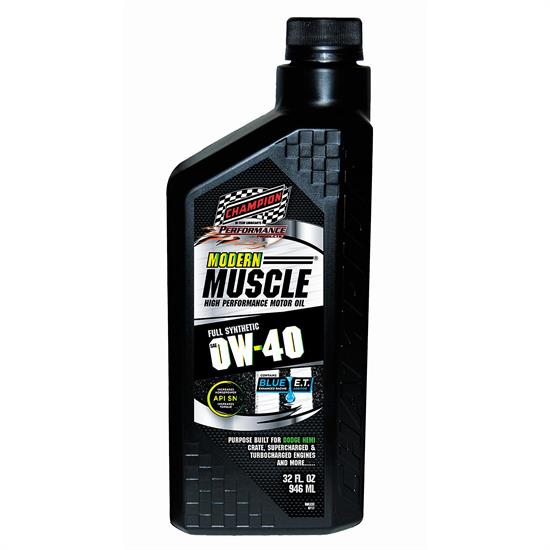 Champion Racing 4402H Modern Muscle Engine Oil, 0W40, 12/1 Quart