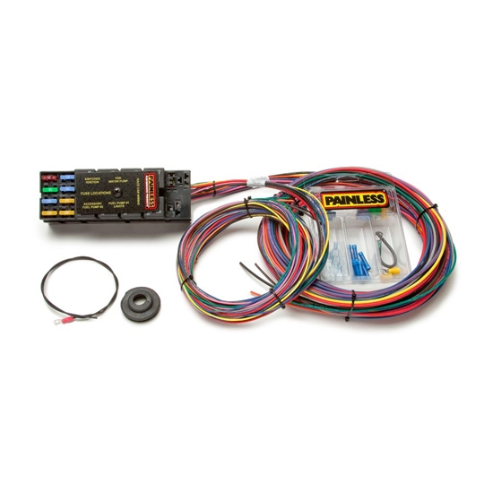 painless wiring 50001 10 circuit race only chassis harness 18 Circuit Universal Wiring Harness