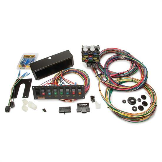 semi trailer wire harness kit painless wiring 50003 21 circuit pro street chassis wiring  painless wiring 50003 21 circuit pro street chassis wiring