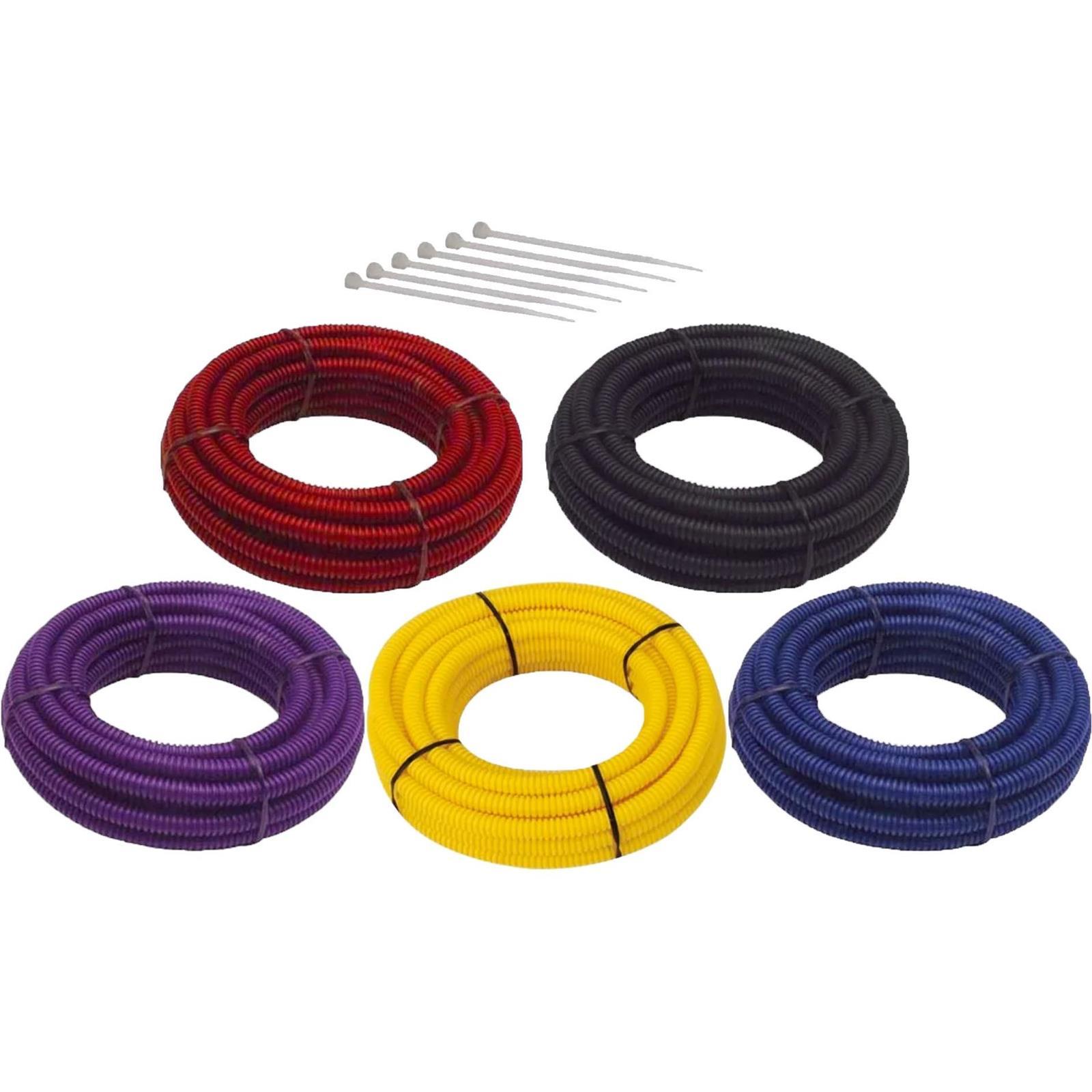 Split Wire Loom Conduit Tubing, 3/8 Inch Diameter, 12 Ft. LongSpeedway Motors