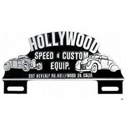 Hollywood Custom Speed & Custom Equip. Tag Topper