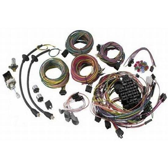 american autowire 500434 1957 chevy style wiring harness  bel air,  one-fifty series, two-ten series, del ray, nomad, sedan delivery