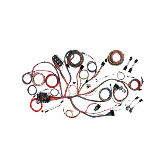 american autowire 510125 chassis wiring harness, 1964 66 mustangamerican autowire 510125 chassis wiring harness, 1964 66 mustang 64 66 ford mustang, 18 number of circuits, fuse block included