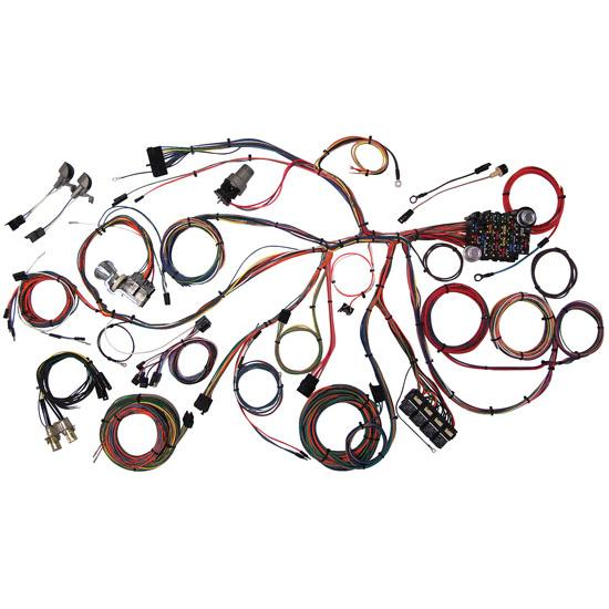 american autowire 510055 1967 68 mustang wiring harness rh speedwaymotors com 1968 mustang wiring harness plug and play 68 mustang wire harness